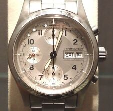 HAMILTON Armbanduhr Chronograph Herren Stahl Automatik Caliber 7754 mit Box