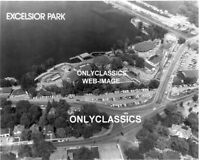 OLD EXCELSIOR AMUSEMENT PARK WOOD ROLLER COASTER LAKE MINNETONKA MN AERIAL PHOTO