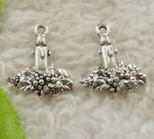 Free Ship 150 pieces tibet silver candle charms 20x16mm B4884