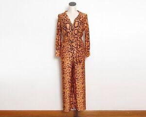 Vintage 1960s Jumpsuit / Reptile Print One Piece / 60s Nymphorm Loungewear