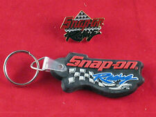 NEW Snap On Tools Racing Key Chain Tag Keychain Fob And Hat Cap Pin Hatpin