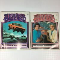 2 DUKES OF HAZZARD Bo Luke Coloring or Activity books partially used Vintage (O)