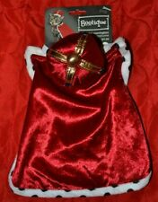 King Purrington Royalty Cat Costume - Crown and Cape - One Size