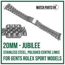 ♛ 20mm Jubilee Stainless Steel Bracelet Watch Strap For ROLEX Sports Models ♛