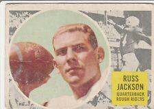 1960 TOPPS CFL RUSS JACKSON OTTAWA ROUGH RIDERS #63 (McMASTER MARAUDERS) GOOD