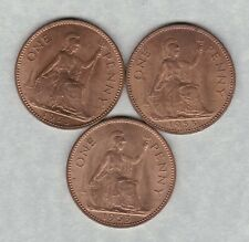 More details for three key date 1953 elizabeth ii pennies in extremely fine or better condition