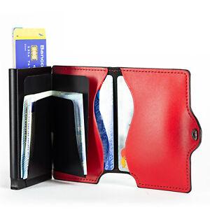 Geldbörse Herren Slim RFID-Schutz PopUp Kleine Geldbeutel Portemonnaie Vertikal
