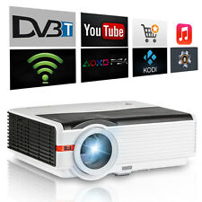 HD LCD Home Theater Projector Android Wifi Online Movie Game DVB-T2 HDMI USB VGA