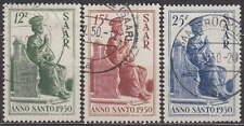 SAAR - SAARLAND GERMANY - 1950 HOLY YEAR Mi.: 293-295 - used - SIGN NEY !!
