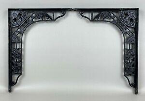 Matched Pair Antique Art Nouveau/Eastlake Cast Iron Shelf Brackets