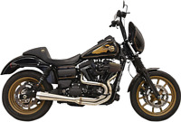 Bassani Greg Lutzka Edition 2-Into-1 Harley Dyna Stainless Exhaust System 1D2SSL