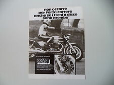 advertising Pubblicità 1975 BREMBO e MOTO GUZZI 850