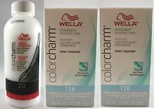Wella Color Charm T18 Lightest Ash Blonde x 2 + 20 Volume Cream Developer