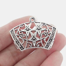 5 Large Necklace Scarf Bails Connector Tibetan Silver Charms Pendants Findings