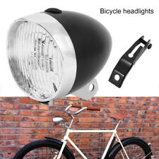 Classical Vintage 3 LED Headlight Vintage Bicycle Bike Retro Front Light Bracket