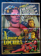 "TONGOLELE SEXY ""AMOR DE LOCURA"" NINI MARSHALL MEXICAN MOVIE POSTER 1953"