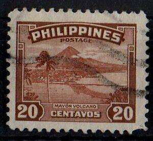 PHILIPPINES 1947 Mayon Volcano /Mi:PH 466/ Scott #508/ 20cent STAMP