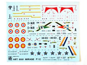 Esci 9081 Vintage Stickers Mirage F1C 1:72 Modélisme