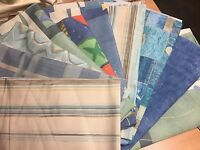 ASSORTED OF BEAUTIFUL FLORAL PRINT CURTAIN FABRIC IN SMALL PEICES 20.3 METRES