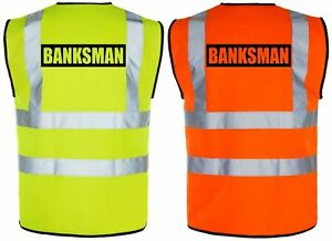 BANKSMAN Hi-Vis High-Viz Visibility Safety Vest/Waistcoat | Yellow/Orange