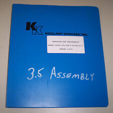 Koolant Koolers Operation & Maintenance Manual Sov20 000-2Pr-L-R134A-Si-C 17293