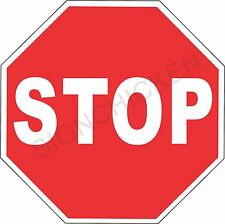 """STOP SIGN - NEW ALUMINUM SIGN - 12"""" X 12""""  road and street signs -  mancave -art"""