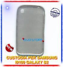 Pellicola+Custodia CERCHI GRIGIA per Samsung I9100 galaxy s2 plus I9105