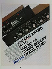 retro magazine advert 1983 IBANEZ dm1000 delay