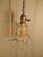 Vintage Industrial Cage Light -Machine Age Pendant Lamp