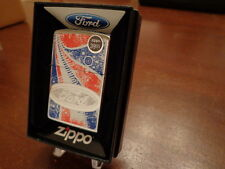 FORD RED WHITE & BLUE ZIPPO LIGHTER MINT IN BOX