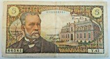 5 Francs, Pasteur, 1966, 1966-11-04 Fayette:61.4, KM:146a France #F6#