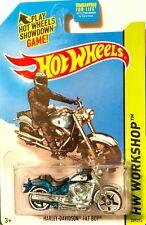 Hot Wheels 2014 T-Hunt Treasure Super Workshop HARLEY-DAVIDSON FAT BOY Keeper