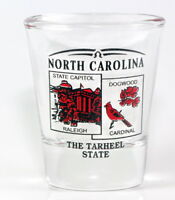 NORTH CAROLINA STATE SCENERY RED NEW SHOT GLASS SHOTGLASS