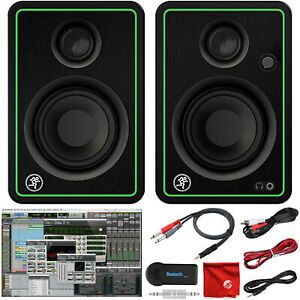 """Mackie CR3-X 3"""" Creative Reference Pro Studio Monitors and Bluetooth Adapter"""