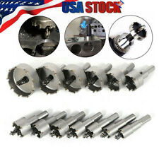 13Pcs Carbide Tip Drill Bit Hole Saw Set Alloy Stainless Steel Metal 16-53mm#