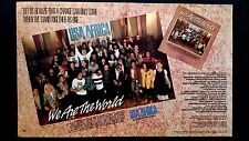 "MICHAEL JACKSON & OTHERS ""WE ARE THE WORLD""  RARE ORIGINAL PRINT PROMO POSTER AD"
