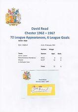 David Lee Chester City 1962-1967 Original Corte/tarjeta firmada a mano