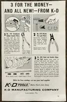 1961 K-D Tools Print Ad Crankcase Rubber Gasket Piston Pin Lock Pliers Etc
