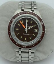 UNIVERSAL GENEVE UNISONIC-SUB Vintage Stainless 852106/04 G-F Bracelet SERVICED
