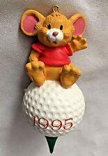 """Multi 4"""" Mouse Sitting on 1995 Golf Tee Figurine Ornament"""
