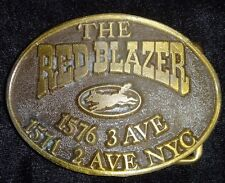 The Red Blazer Fox 1576 3 Ave 1571 2 Ave NYC Belt Buckle Vintage 1965 Unique