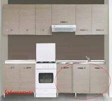 mobile base kit a 3 ante per cucina componibile finiture larice grigio