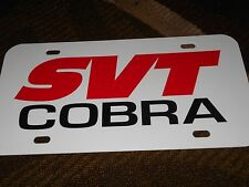 2000 2001 2002 2003 2004 FORD MUSTANG SVT COBRA LOGO LICENSE PLATE B/R