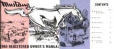 MUSTANG 1965 Owner's Manual 65