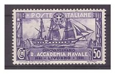 REGNO 1931 - ACCADEMIA NAVALE LIVORNO   Cent. 50  NUOVO *