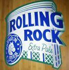 "Rolling Rock Beer Sign 23"" x 20"" New Embossed"