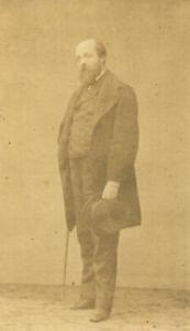 🌓RARE tirage photo albuminé portrait écrivain HENRY MURGER Petit Trinquart 1860