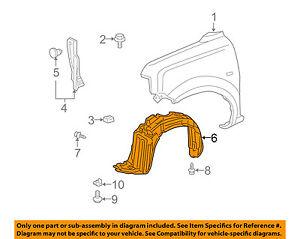 Scion TOYOTA OEM 04-06 xB-Front Fender Liner Splash Shield Left 5387652041