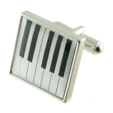 TASTI di Pianoforte Musica gemelli argento massiccio 925 + scatola Personalizzato Inciso