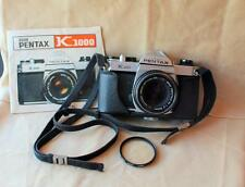 Asahi Pentax K1000 35mm SLR film camera w/SMC Pentax-M 50 mm 1:2 lens,manual